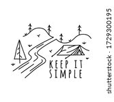 vintage keep it simple logo... | Shutterstock .eps vector #1729300195
