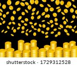 Falling Golden Coins Isolated...