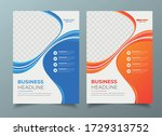 brochure flyer poster template... | Shutterstock .eps vector #1729313752