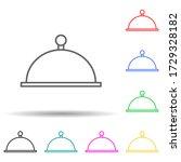 tray multi color style icon....