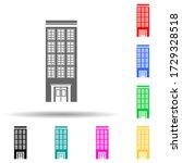 one block building multi color...