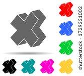 asterisk in play multi color...