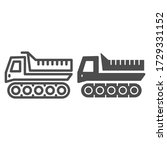 Snowplow Line And Solid Icon ...