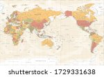 world map pacific china asia... | Shutterstock .eps vector #1729331638