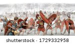 Hannibal. Battle of Lake Trasimene during the Second Punic War