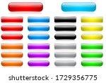 colored 3d glass buttons....   Shutterstock . vector #1729356775