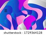 abstract vector wavy pattern... | Shutterstock .eps vector #1729364128