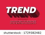 modern 3d style font  alphabet... | Shutterstock .eps vector #1729382482