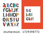 abstract stylish alphabet. be... | Shutterstock .eps vector #1729398772