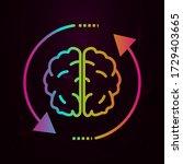 brain  arrow  inspiring change... | Shutterstock .eps vector #1729403665