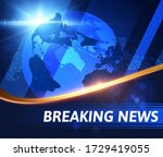 breaking news vector background ... | Shutterstock .eps vector #1729419055
