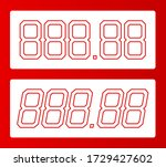 all digit price template. 88.88 ... | Shutterstock .eps vector #1729427602