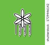 brooch barrette sticker icon....