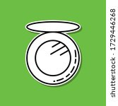compact sticker icon. simple...