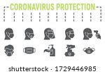 medical safety equipments glyph ... | Shutterstock .eps vector #1729446985
