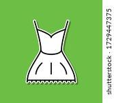 dress sticker icon. simple thin ...
