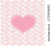 romantic vector with heart... | Shutterstock .eps vector #172953092