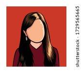 portrait caricature of a blank...   Shutterstock .eps vector #1729565665