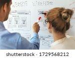 ui ux designers team working on ...
