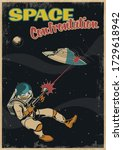 battle in space illustration... | Shutterstock .eps vector #1729618942