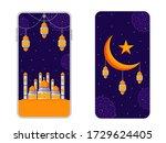 mobile cell  phone ui design ... | Shutterstock .eps vector #1729624405