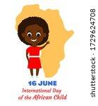 african girl smiling happily... | Shutterstock .eps vector #1729624708