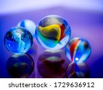 Colored Glass Marbles. Child's ...