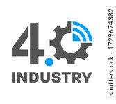 industry 4.0 smart factory... | Shutterstock .eps vector #1729674382