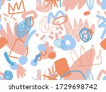 seamless abstract doodle... | Shutterstock .eps vector #1729698742
