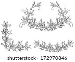 scroll set. decorative elements ... | Shutterstock . vector #172970846