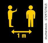 social distancing keep your... | Shutterstock .eps vector #1729727815