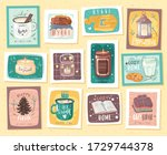 home comfort collection. cozy... | Shutterstock .eps vector #1729744378