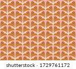 elegant damask floral vector...   Shutterstock .eps vector #1729761172