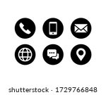 contact us icon vector.... | Shutterstock .eps vector #1729766848