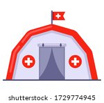 medical tent free aid to people....   Shutterstock .eps vector #1729774945
