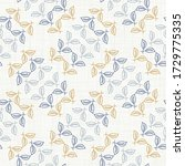 seamless leaf damask pattern... | Shutterstock .eps vector #1729775335