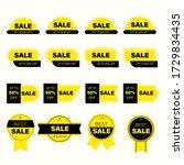 set of yellow sales label.... | Shutterstock .eps vector #1729834435