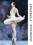 White Swan  Young Ballerina In...