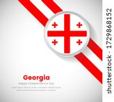 abstract georgia national flag... | Shutterstock .eps vector #1729868152