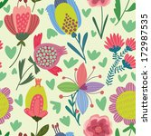 cute seamless pattern.right... | Shutterstock .eps vector #172987535
