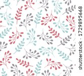 simple floral vector pattern.... | Shutterstock .eps vector #1729895668
