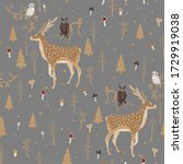 seamless vector pattern with... | Shutterstock .eps vector #1729919038