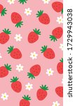 Strawberry Pattern  Red Flower...
