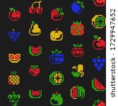 4 colors 16px seamless patterns ...   Shutterstock .eps vector #1729947652