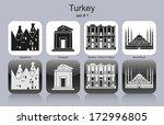landmarks of turkey. set of...   Shutterstock .eps vector #172996805