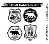 camping and hiking logo design  ... | Shutterstock .eps vector #1730012392