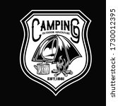 camping and hiking logo design  ... | Shutterstock .eps vector #1730012395