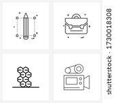 ui set of 4 basic line icons of ...