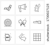 set of 9 simple line icons for...   Shutterstock .eps vector #1730027125