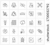 set of 25 ui icons and symbols...